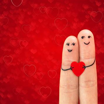Finger couple with heart